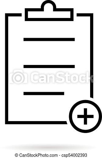 thin line black medical prescription icon concept of eps vectors rh canstockphoto ie clipart prescription drugs clipart prescription drugs