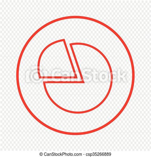Thin Line Chart Icon Illustration design - csp35266889