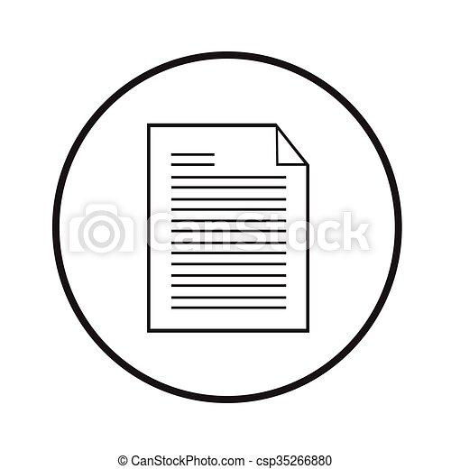Thin line document icon Illustration design - csp35266880