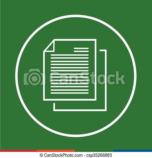 Thin line document icon Illustration design - csp35266883