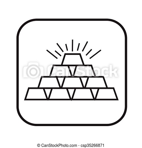 Thin line gold icon Illustration design - csp35266871