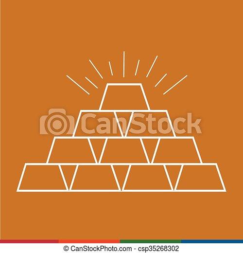 Thin line gold icon Illustration design - csp35268302