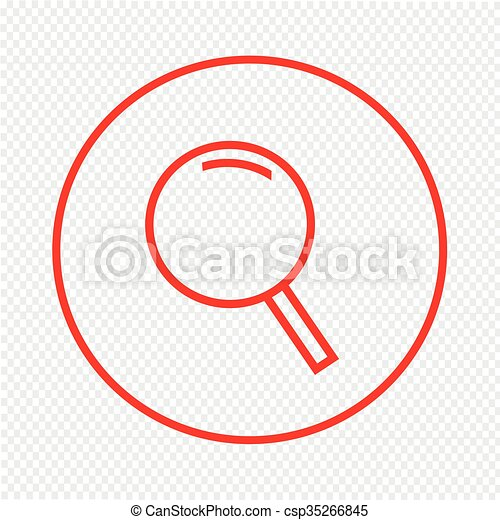 Thin line magnifier icon Illustration design - csp35266845