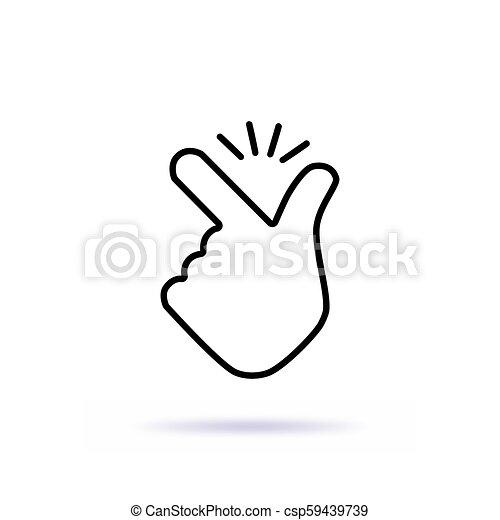 thin line snap finger like easy logo thin line snap finger like easy logo concept of female or male make flicking fingers https www canstockphoto com thin line snap finger like easy logo 59439739 html