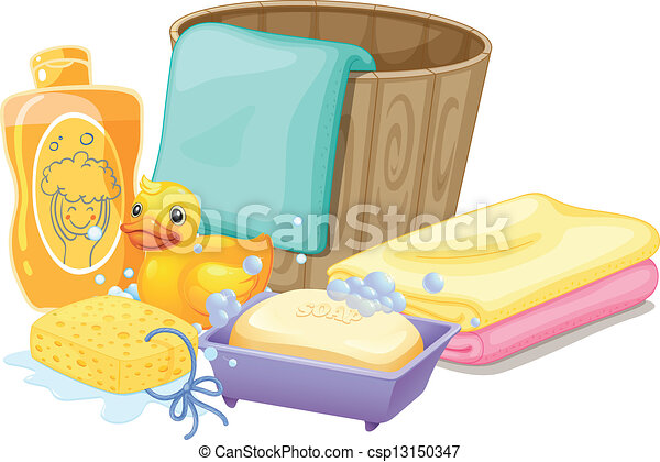 Things needed in taking a bath - csp13150347