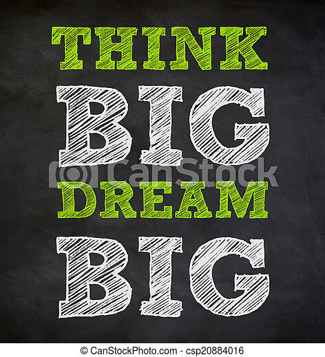 THINK BIG and DREAM BIG - written concept - csp20884016