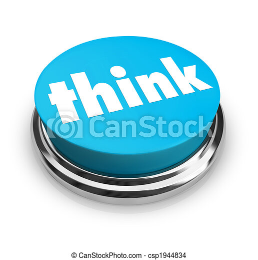 Think - Blue Button - csp1944834
