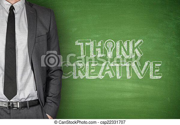 Think Creative on Blackboard  - csp22331707