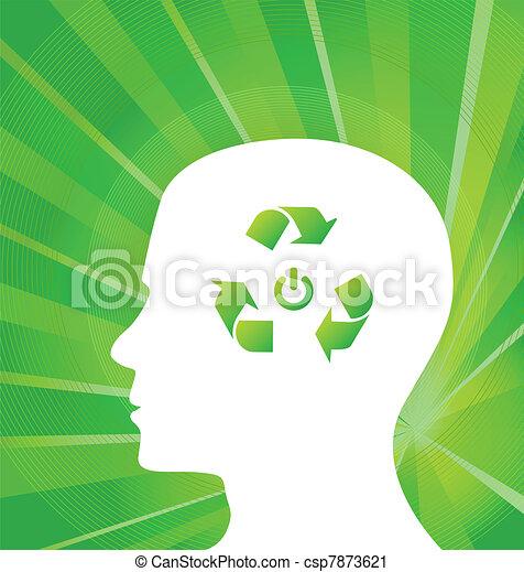 Think Green Vector concept - csp7873621