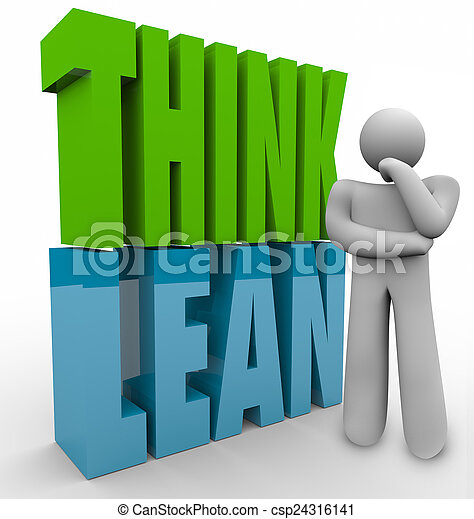 Think Lean Person Thinking Efficient Business Management Product - csp24316141