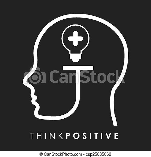 think positive  - csp25085062