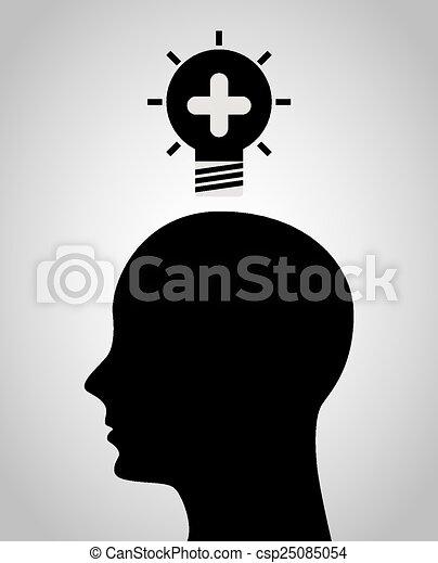 think positive  - csp25085054
