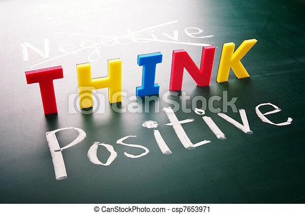 Think positive, do not negative - csp7653971