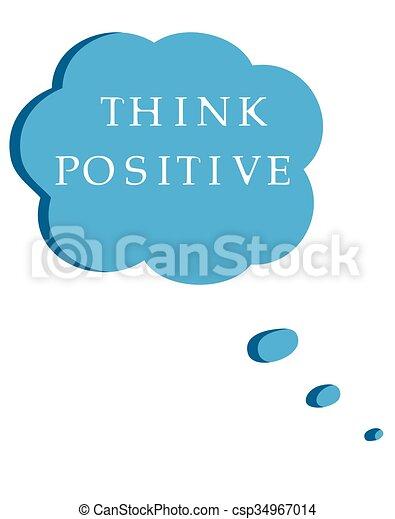 think positive - csp34967014