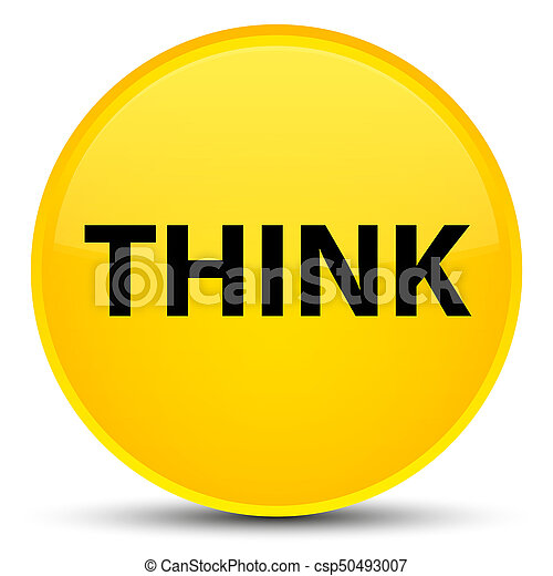 Think special yellow round button - csp50493007
