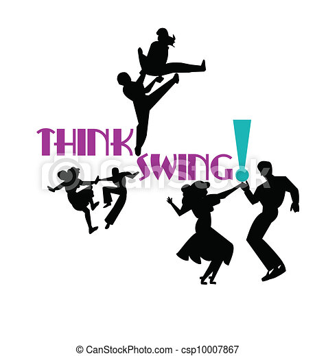 Think swing dancers from the 50s era in silhouette clip art think swing vector sciox Choice Image