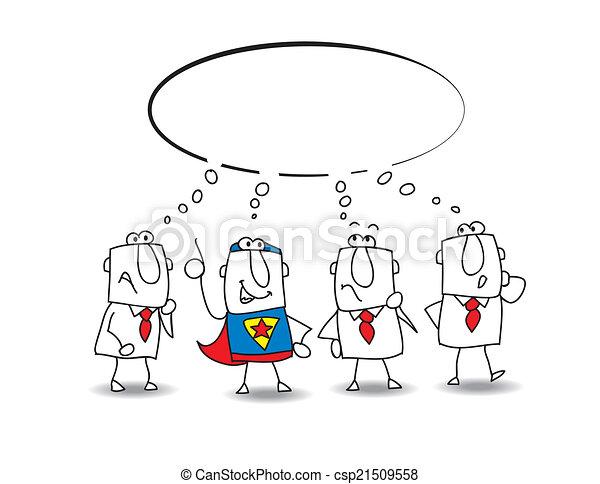 think tank with a superhero - csp21509558