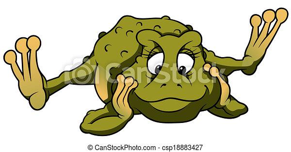 Thinking Frog - csp18883427