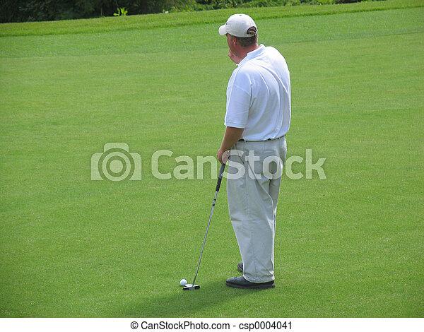 Thinking golfer - csp0004041