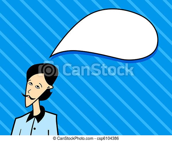 thinking man - csp6104386