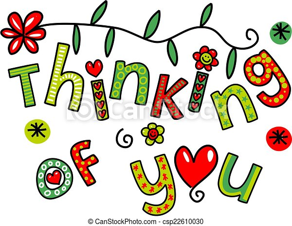 thinking of you doodle text express hand drawn colorful cartoon rh canstockphoto com thinking of you today clipart thinking of you today clipart