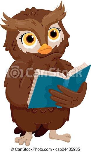 Thinking Owl - csp24435935
