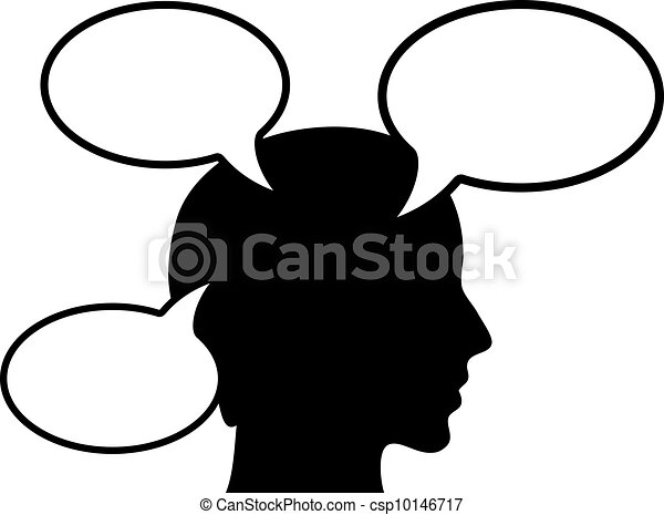thinking person vector illustration vector clip art search rh canstockphoto com person thinking bubble clipart person thinking clipart free