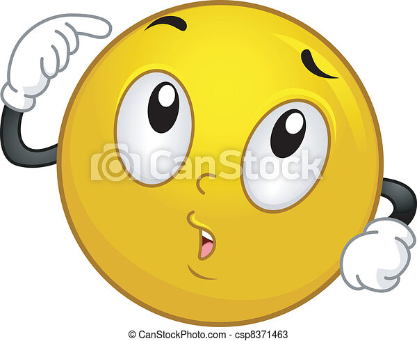 Thinking Smiley - csp8371463
