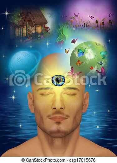 Third eye, clairvoyant - csp17015676