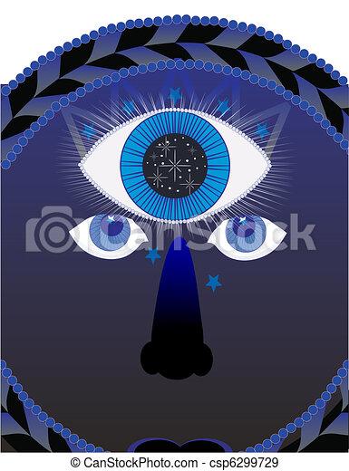 Third Eye Psychic Illustration