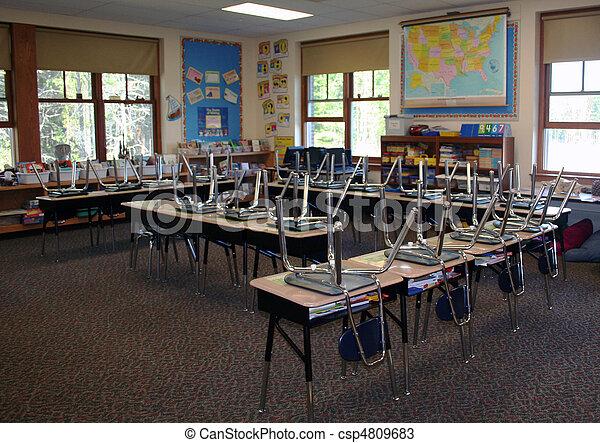 Third grade classroom - csp4809683