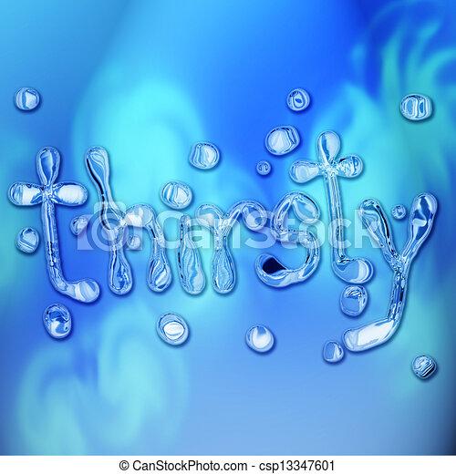 Thirsty concept - csp13347601