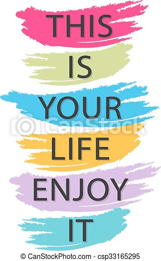 This Is Your Life Enjoy It Creative Quote Vector Typography