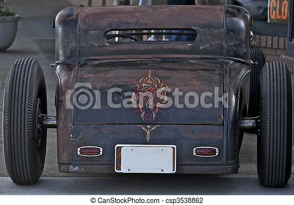 """This \""""Rat Rod\"""" is an example of the early Hot Rods built in the 1950s. - csp3538862"""