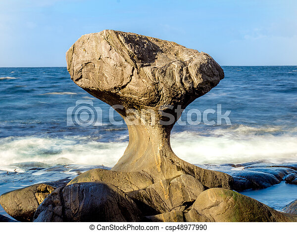 This rock is famous in Norway - csp48977990