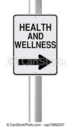 This Way to Health and Wellness  - csp15862047