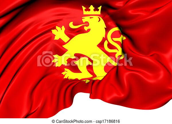 flag med løve