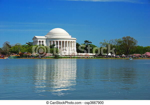 thomas, 国民, washington d.c., jefferson 記念館 - csp3667900
