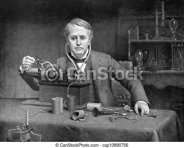 Thomas Edison 1847 1931 On Antique Print From 1899 American