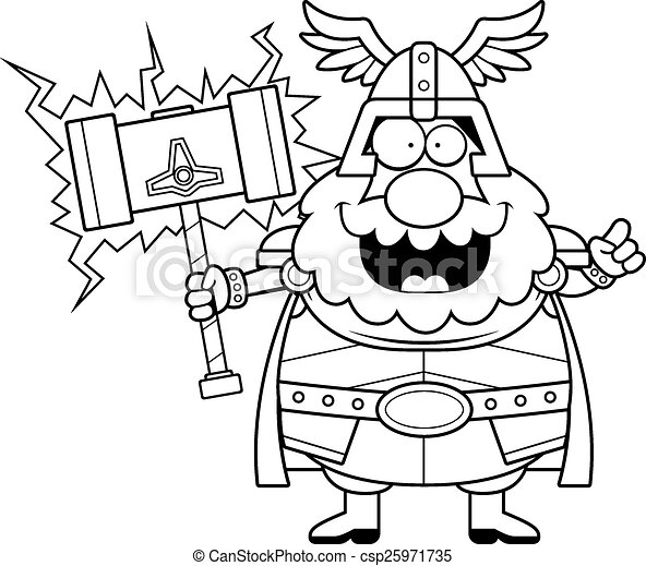 Thor Idea Caricatura Idea Caricatura Ilustración Thor