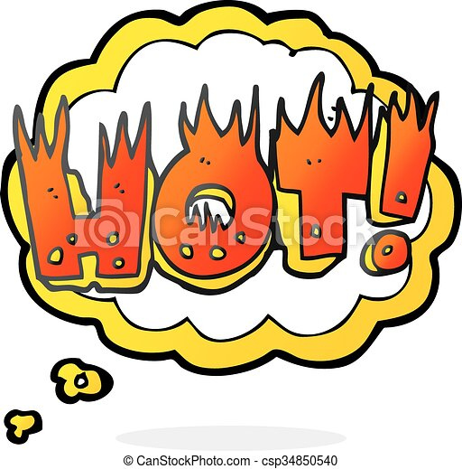 thought bubble cartoon hot symbol - csp34850540
