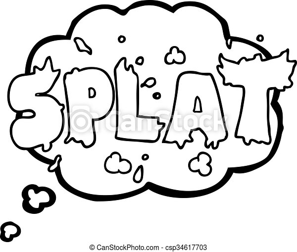 freehand drawn thought bubble cartoon splat vector clipart search rh canstockphoto com split vector light bar split vector r