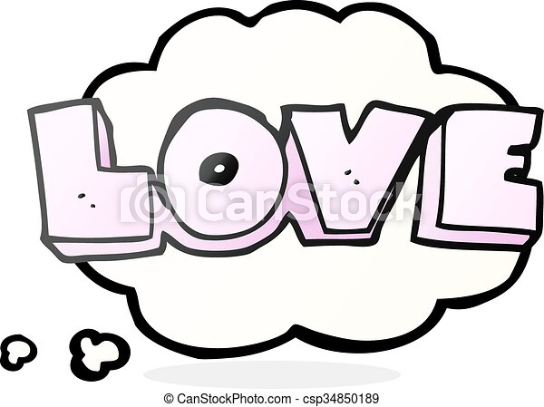 Freehand drawn thought bubble cartoon word love. | 450 x 342 jpeg 24kB