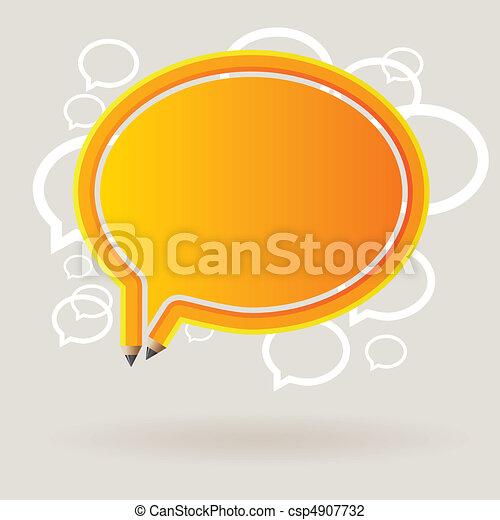 thought bubble pen - csp4907732