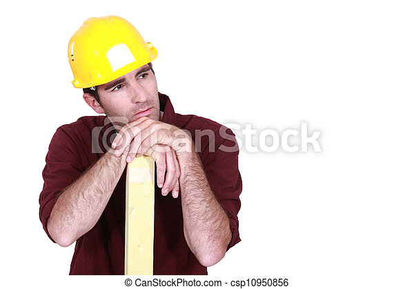 Thoughtful builder - csp10950856