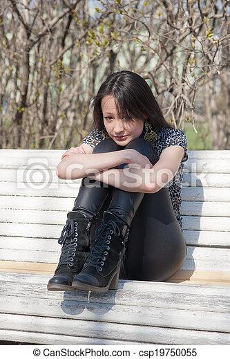 thoughtful girl - csp19750055