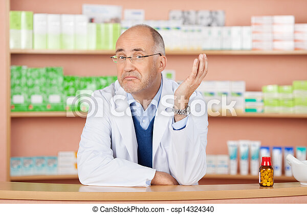 Thoughtful pharmacist - csp14324340