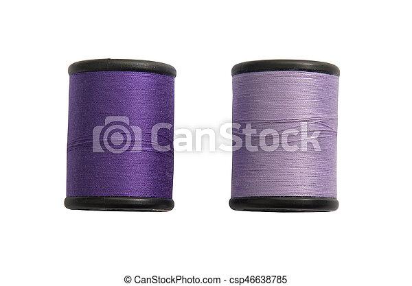 Thread bobbin isolated on white background - csp46638785