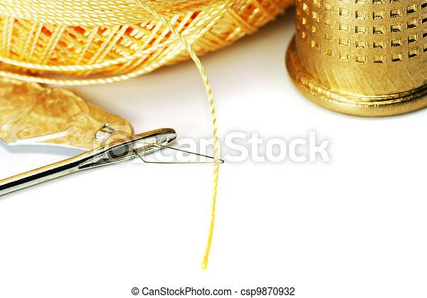 thread in needle - csp9870932
