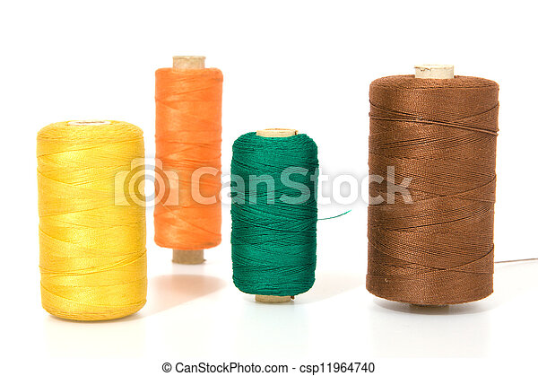 Thread isolated on a white background - csp11964740